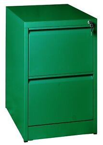 2 Draw Heavy Duty Commercial  Steel Filing Cabinet Colour Office Home Assembled