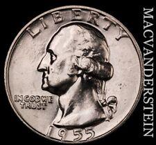 1955-D Washington Quarter- Choice Gem Brilliant Uncirculated #T1508