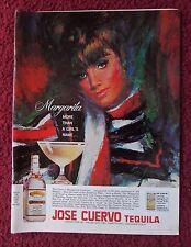 1966 Print Ad Jose Cuervo Tequila ~ Pretty Lady MARGARITA Sam Katz Art