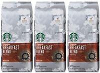 Starbucks Breakfast Blend Medium Roast Ground Coffee, 20 Ounce 3-Pack