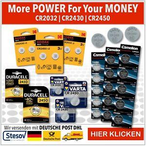 Duracell Varta Kodak Camelion Knopfzellen LR44 CR2032 CR2430 CR2450 Batterien