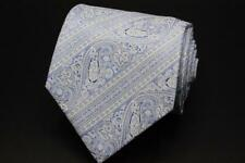 STEFANO RICCI LUXURY COLLECTION Silk Tie. Executive Blue w White Paisley.