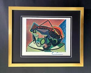 PABLO PICASSO BEAUTIFUL 1948 SIGNED SCARCE PRINT MATTED 11 X 14 + LIST