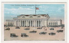 Union Terminal Railroad Depot Jacksonville Florida 1920s postcard