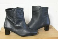 BLUE ANKLE BOOTS SIZE 7 / 40 BY SHOE TAILOR GOOD USED CONDITION
