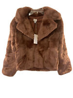 Women's Long Sleeve Open Faux Fur Jacket A New Day - Blush -  Size Xs, S, L, XL