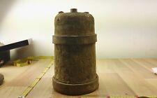 Alter Stampfer Holz mit Eisenringen und eisenplatte