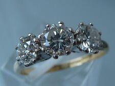 STUNNING 1930's  DIAMOND TRILOGY RING 18CT PLATINUM 1.30 CT Sl1