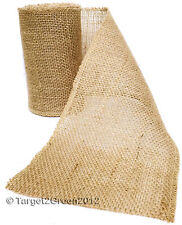 Open Woven Natural Rustic Jute Hessian Burlap Chair Sashes Bows Vintage Wedding