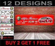 Alfa Romeo 156 BTTC Sponsor Logo Banner for Workshop, Garage, Man Cave