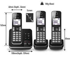 Panasonic Cordless Home Phone Call Blocker Digital Answer Handsets Pack Of 3