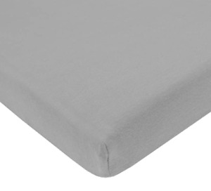 AMERICAN BABY 100% Natural Jersey Fitted Portable/Mini-Crib Sheet 3553 - Grey