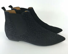 Isabel marant Black Leather Suede Size 41 UK8 Ankle Chelsea Pull On Pointed Boot