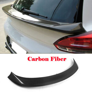 Fit For Volkswagen VW Scirocco Rear Middle Spoiler Trunk Wing Carbon Fiber