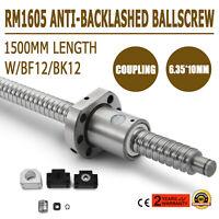 Ball screw SFU1605--1500mm Anti-backlashed BF12/BK12 Cheap End Selling