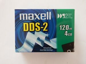 Maxell DDS2/DDS-2 DAT Data Tape/Cartridge 4mm 4/8GB 120m NEW