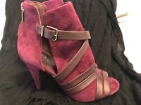 Vince Camuto Womens Achika Leather Open Toe Ankle Fashion Boots