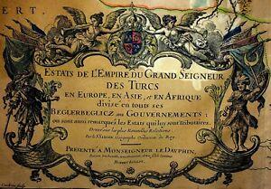 """LES ESTATS DE L""""EMPIRE DU GRAND SEIGNEUR DES TURCS EN ASIE...JAILLOT. PARIS 1689"""