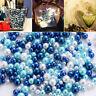 Art Necklace Scrapbook Imitation Pearl Beads No Hole UV Resin Jewelry Making