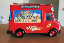 Vintage 1984 Musical Ice Cream Car Van toy by YCT wind up scrolling screen Truck