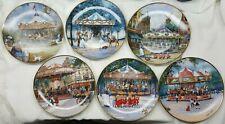 5 Different Franklin Mint Carousel Adventures Sandi Lebron Collector Plates