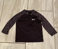 Under Armour Boys Shirt Toddler 2T Black Gray Lightweight Long Sleeve