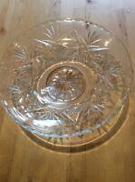 Vintage Lead Crystal Cut Glass Fruit Bowl Bonbon Dish Centrepiece