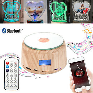 New Personalised Photo Christmas Gift Bluetooth Speaker LED Night Light Ornament