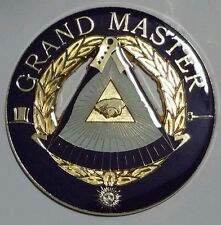 Freemason Masonic Grand Master Cut-Out Car Emblem
