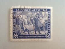 Germany Deutsche Post LEIPZIGER MESSE 1948 stamp 50pf used not hinged.