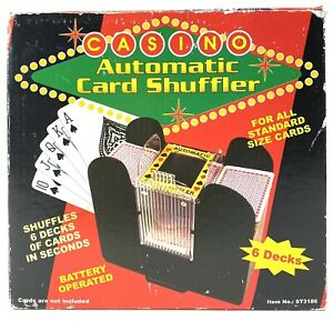 Casino Automatic Poker Card Shuffle Machine - Battery Operated - 6 Deck - Tested