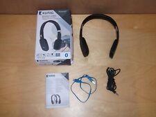 Konig Headset On-Ear Bluetooth Built-In Microphone in Black