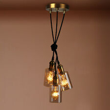 CLUSTER 3 RETRO VINTAGE CEILING PENDANT LIGHTING FIXTURE GLASS BOTTLE LAMPSHADE