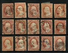 USA Scott #10 - 11 ?? 1851 - 1857 3c Washington Nice Selection