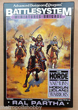 Advanced Dungeons & Dragons BattleSystem miniatures brigade THE HORDE