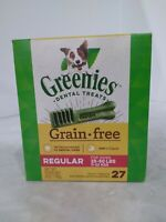 GREENIES Grain Free Natural Dental Dog Treats - Regular (25-50 lb. dogs) 27