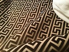 "2.8yd FABRICUT ""Logan"" Cut Velvet Geometric Fabric Walnut #1148704 $925 Retail!"
