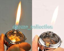 Novelty Watch Style Refillable Butane Gas Cigarette Cigar Lighter Black Dial