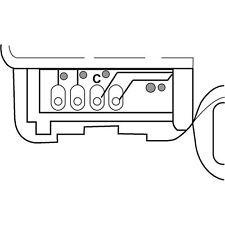 HVAC Heater Blend Door Actuator Left/Upper SANTECH STE MT18503