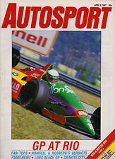 Autosport 9 Apr 1987 - Brazilian GP jeopardy, Long Beach Indycars, Nigel Mansell