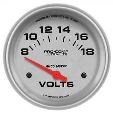 Autometer 4491 Ultra-Lite Voltmeter Gauge  2-5/8 in., Electrical
