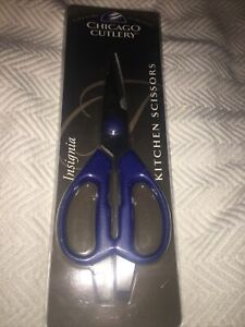 Chicago Cutlery Kitchen Stainless Steel Blue Handle Scissors 5 Pairs In 1