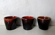anciens petits verres shooters gobelets terre cuite vernissée