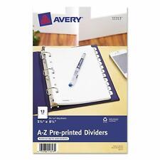 Avery 11313 Preprinted Tab Dividers 12 Tab 8 12 X 5 12 White