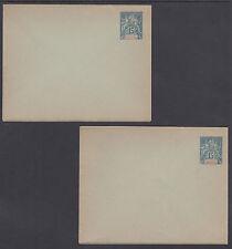 Indo-China H&G B2a, B2a var mint 1892 15c Navigation & Commerce Envelopes 2 diff
