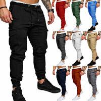 Men's Casual Cargo Pants Joggers Combat Summer Sweatpants Track Pants Trousers