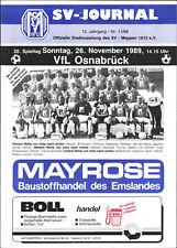 II. BL 89/90 SV Meppen - VfL Osnabrück, 26.11.1989 - Mannschaftsfoto