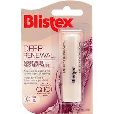 * BLISTEX DEEP RENEWAL LIP BALM 3.7G  MOISTURISE AND REVITALISE SPF 15 WITH Q10