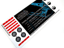 CUSTOM STICKERS for STAR WARS Lego 9493  X-WING FIGHTER +++BONUS