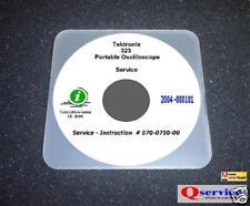 "Tektronix TEK 323 Oscilloscope Service Manual With Complete 17""x11"" Diagrams CD"